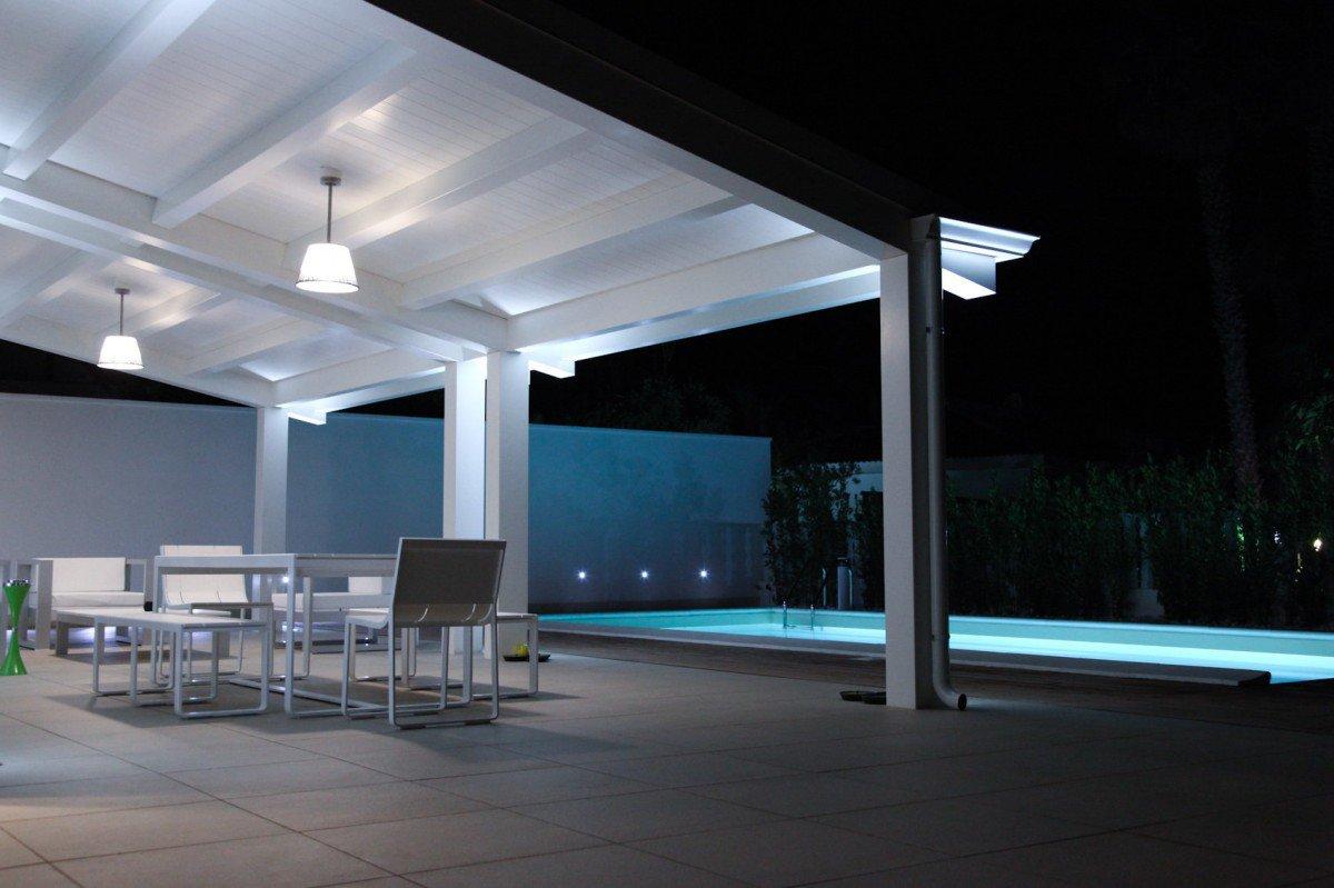 Risultati immagini per illuminazione veranda in legno
